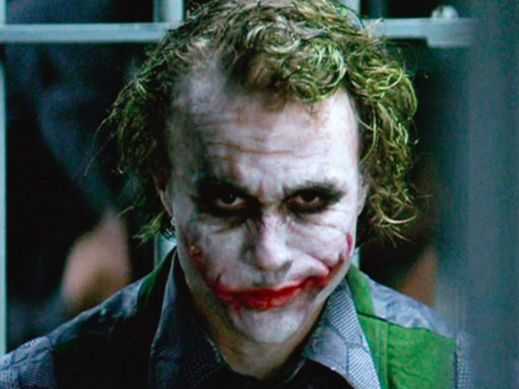 Heath Ledger as the The Joker was a psychotic anarchist, The Joker.